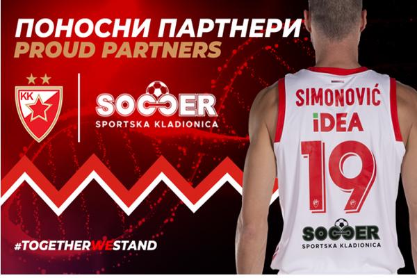 SOCCER je postao ekskluzivni beting partner Košarkaškog kluba Crvena zvezda